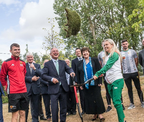 Minster for Education and Skills Turns the Sod on Institute of Technology Carlow's New €15million South Sports Campus (Tue. 17th July, 2018)