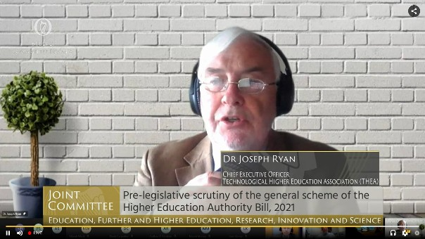 Statement from THEA to Oireachtas Joint Committee Education, Further and Higher Education, Research, Innovation, & Science, on the reform of the Higher Education Authority legislation