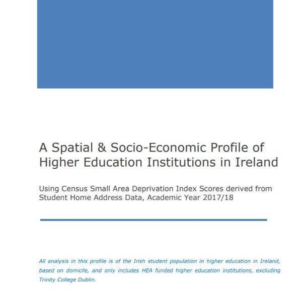 Response to the publication by the Higher Education Authority of the spatial and socio-economic profiles of higher education institutions